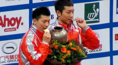 World Champions 2011 - Ma Long and Xu Xin