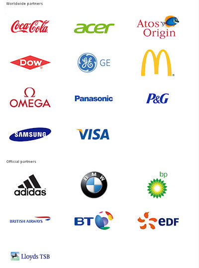 2012 Olympic Games Sponsors