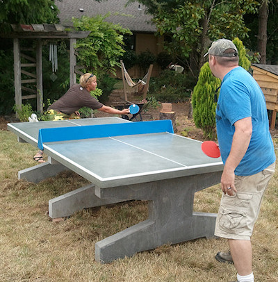 Concrete Table Tennis Tables Perfect For Outdoor Ping Pong