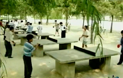 Concrete table tennis tables