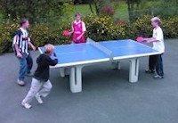 Concrete table tennis tables