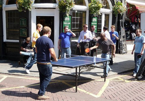 Outdoor table tennis - Ping London