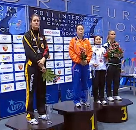 2011 European Championships - Womens Singles medallists