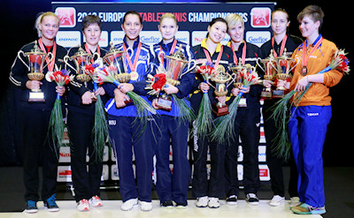 2012 European Table Tennis Championships - Women's Doubles Medallists