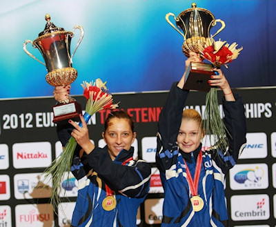 2012 European Table Tennis Championships - Women's Doubles Winners