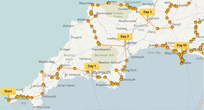 2012 Olympic Games torch relay map
