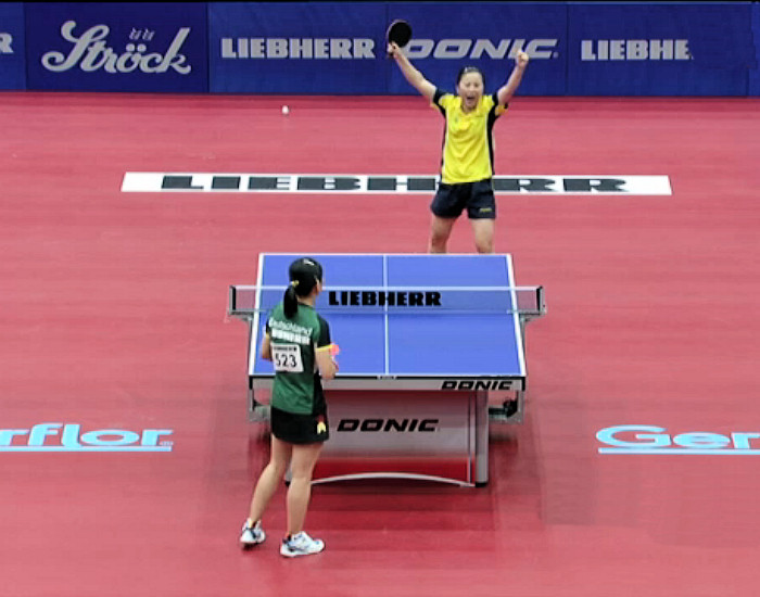 Fen Li representing Sweden wins the 2013 European Championships Women's Singles title