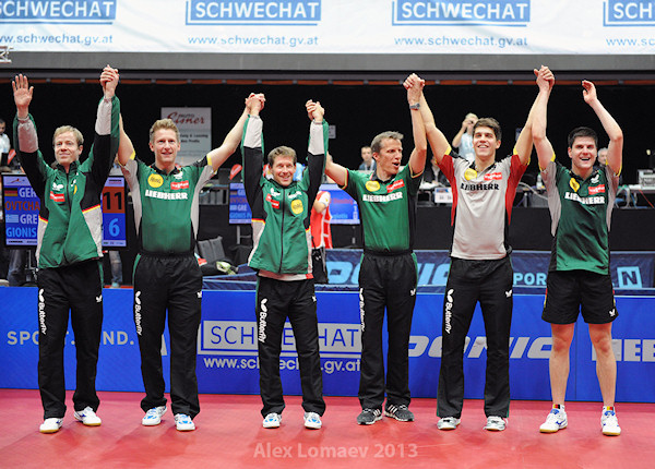 European Championships 2013 Men's Team Event winners