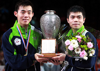 Men's Doubles World Champions 2013 - Chen Chien-An and Chuang Chih-Yuan from Chinese Taipei