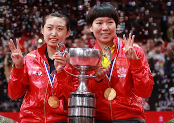 Women's Doubles World Champions 2013 - Guo Yue and Li Xiaoxia from China