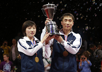 Mixed Doubles World Champions 2013 - Kim Hyok Bong and Kim Jong of North Korea