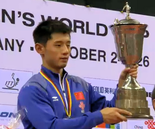 Men's World Cup 2014 Winner - Zhang Jike (China)