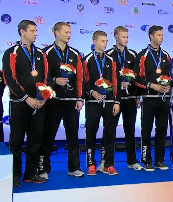 Belarus - European Table Tennis Men's Team Bronze Medallists 2015