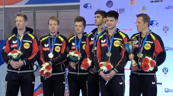 Germany - European Table Tennis Men's Team Silver Medallists 2015