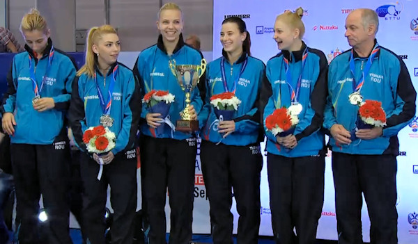 Romania - European Table Tennis Women's Team Silver Medallists 2015