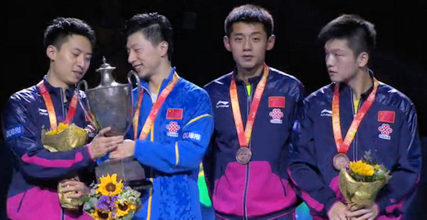 2015 World Championship Men's Singles Medal winners