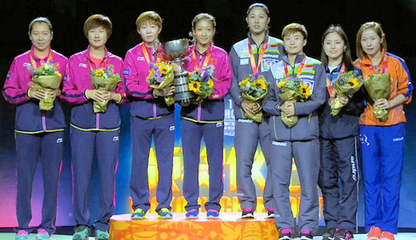 2015 World Championship Women's Doubles Medal winners