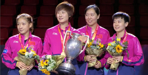 2015 World Championship Women's Singles Podium