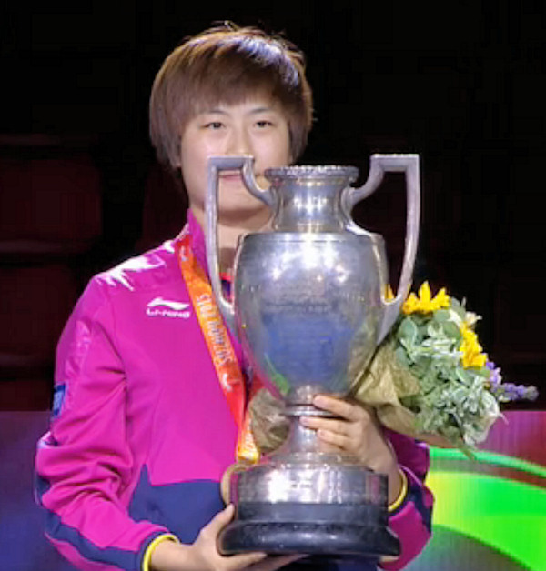 2015 World Championship Women's Singles Winner - DING Ning