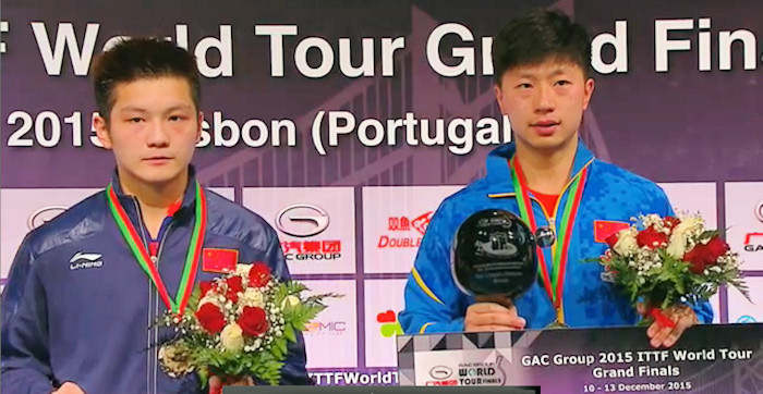 2015 ITTF World Tour Grand Finals - Fan Zhendong and Ma Long