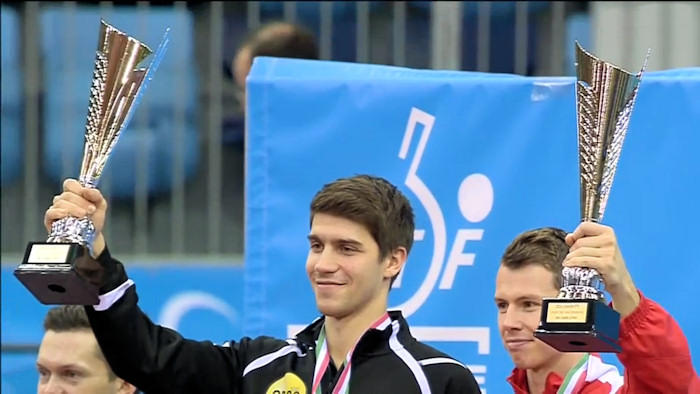 2016 European Championships Men's Doubles winners - Patrick Franziska and Jonathan Groth
