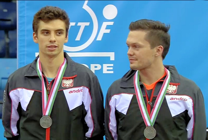 2016 European Championships Men's Doubles silver medallists - Jakub Dyjas and Daniel Gorak