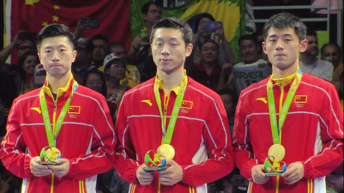 Men's Team Event Gold medal winners - China