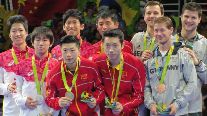 2016 Olympic Games - Men's Team Event medal winners