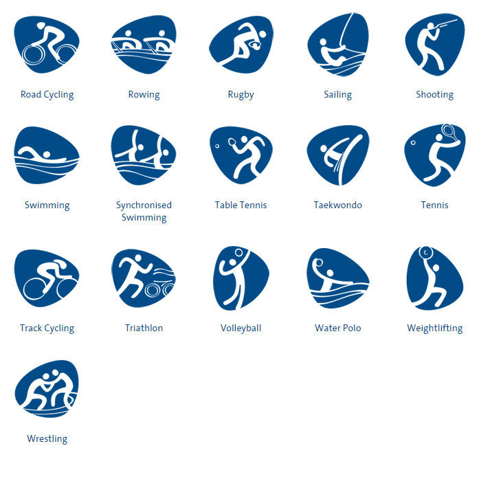 2016 Olympic Games Table Tennis Pictograms For The Summer Olympics