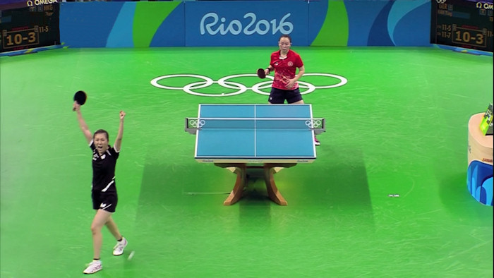 Germany's Han Ying beating Tie Yana at Expedite
