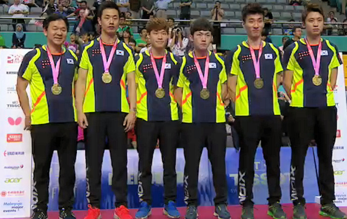 2016 World Team Championships - South Korea - Bronze Medallists