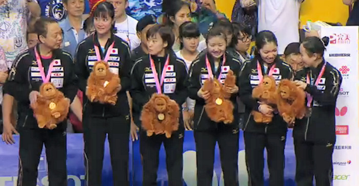 2016 World Team Championships - Japan - Silver Medallists
