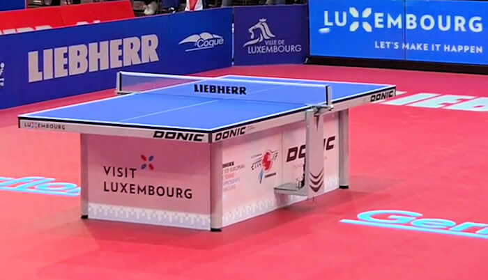Donic World Champion TC table used for 2017 European Table Tennis Championships
