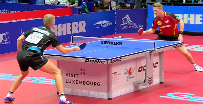 Ruwen Filus beats Yevhen Pryshchepa to secure the victory for Germany