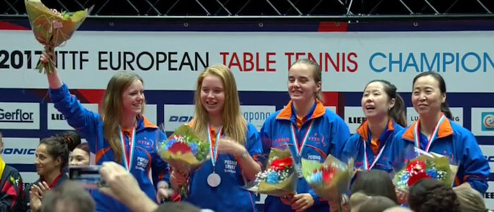 Netherlands - European Table Tennis Women's Team Bronze Medallists 2017