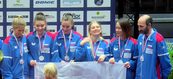 Russia - European Table Tennis Women's Team Bronze Medallists 2017