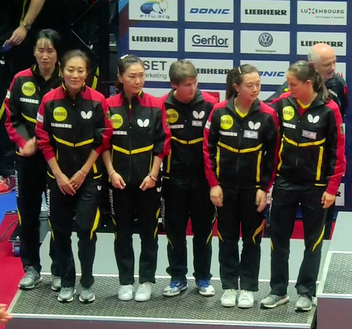 Germany - European Table Tennis Women's Team Silver Medallists 2017