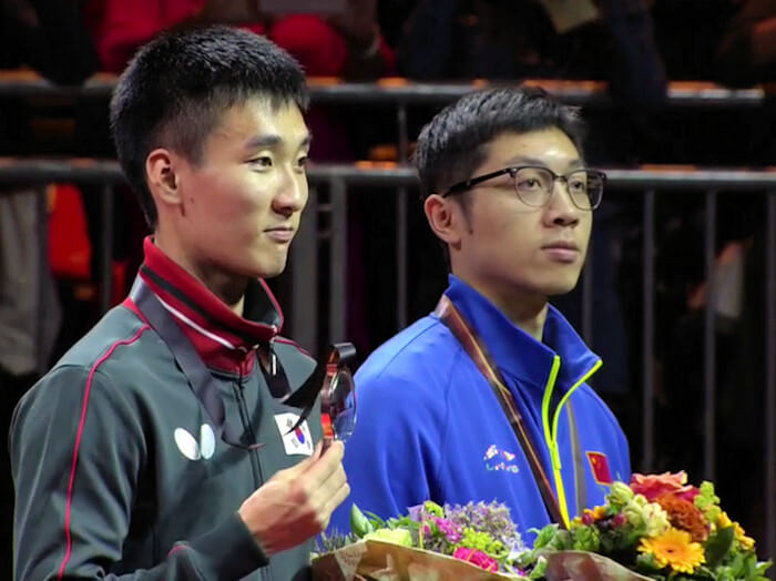 Lee Sangsu and Xu Xin, Men's Singles Bronze Medallists
