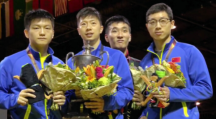 2017 World Championships - Men's Singles Medallists