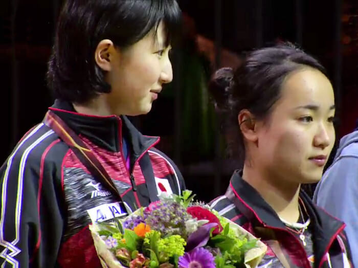 Hina Hayata and Mima Ito, Women's Doubles Bronze Medallists