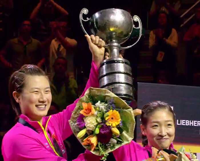 Ding Ning and Liu Shiwen - Women's Doubles World Champions 2017