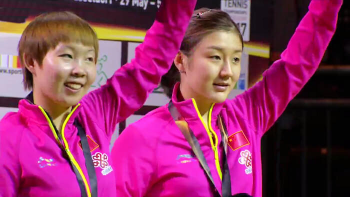 Zhu Yuling and Chen Meng - Women's Doubles Silver Medallists 2017