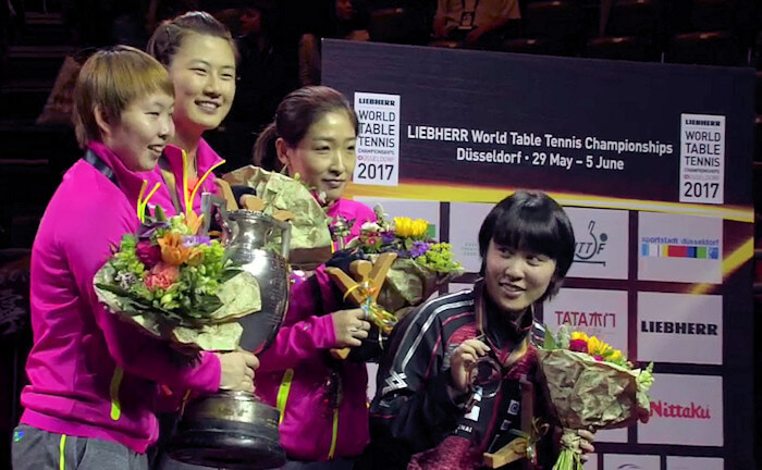 2017 World Championships - Women's Singles Medallists