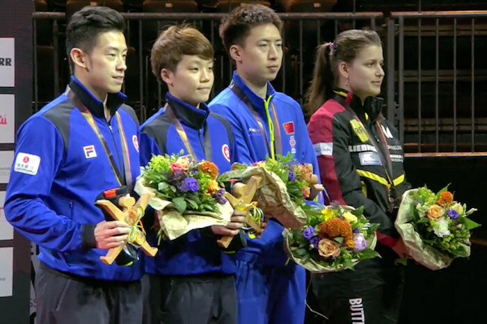 Wong Chun Ting and Doo Hoi Kem, Fang Bo and Petrissa Solja, Bronze Medallists