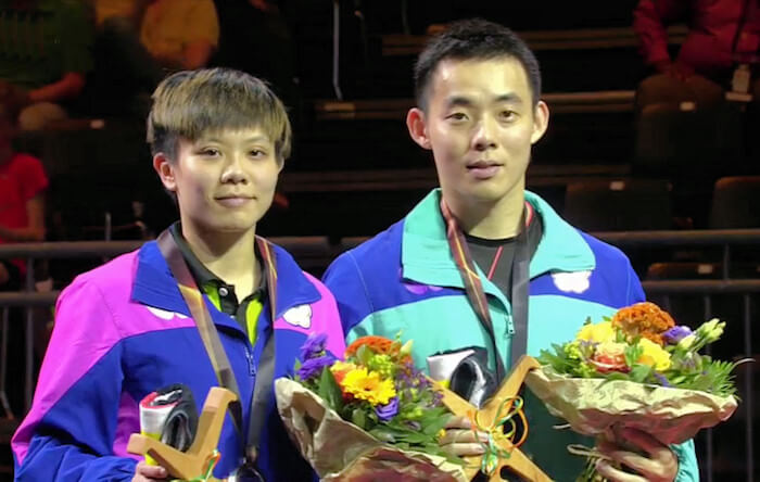 Cheng I-Ching and Chen Chien-An - Mixed Doubles Silver Medallists 2017