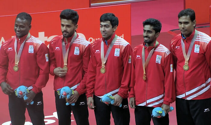 2018 Commonwealth Games Men's Team Gold Medallists - India