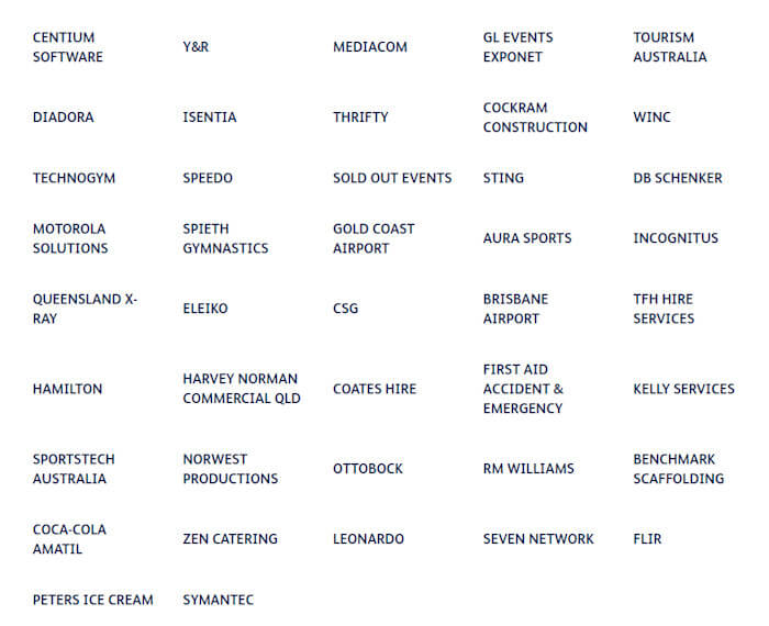2018 Commonwealth Games Sponsors - Suppliers