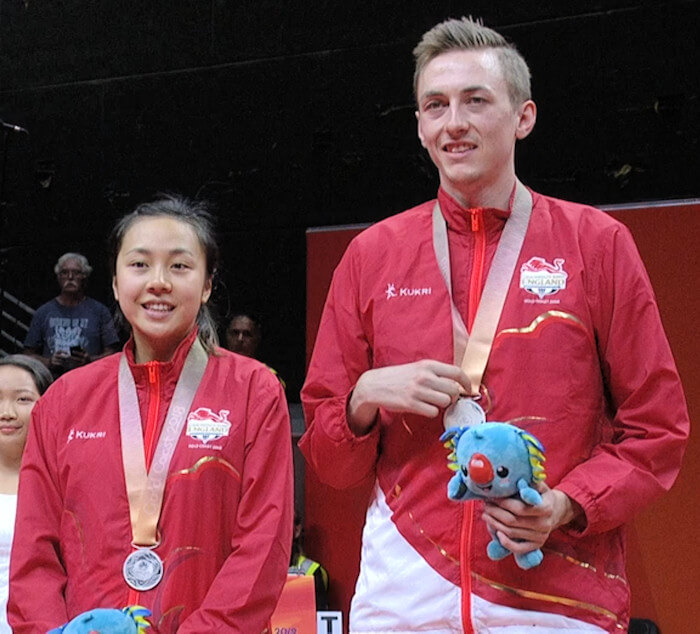 2018 Commonwealth Games Mixed Doubles Silver Medallists - Tin-Tin HO & Liam PITCHFORD (England)