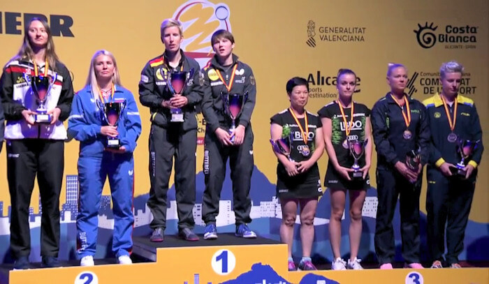 2018 European Championships Women's Doubles medallists