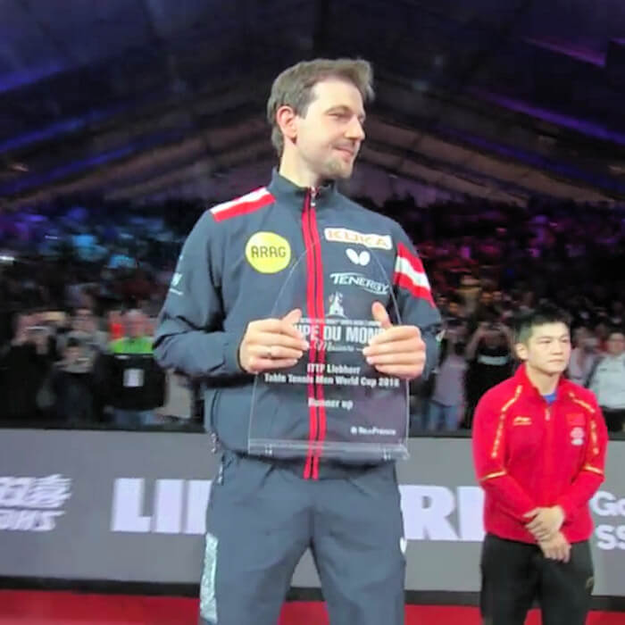 Timo Boll - runner up - World Cup 2018